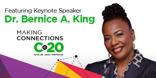 We're proud to announce keynote speaker @BerniceKing will be joining us for convention! Dr. King is a global thought leader, orator, peace advocate and CEO of The King Center. Registration for #WFGC20 is open to everyone, save your spot now https://t.co/mD76h5zpSF. https://t.co/KVovLTrfAJ