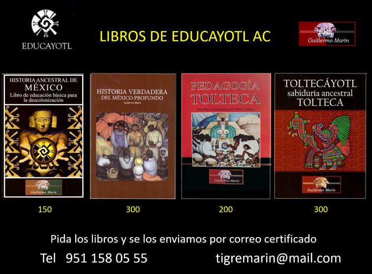 CATÁLOGO DE LIBROS DE EDUCAYOTL AC.