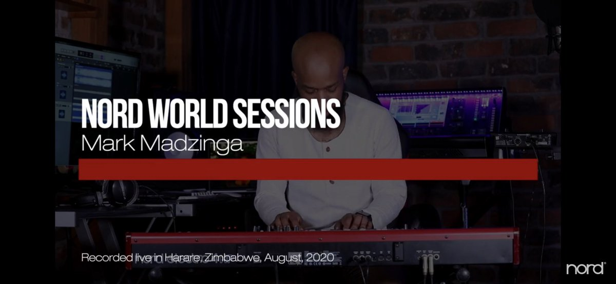 Honored to be the first Zimbabwean and one of the few African Pianists to be featured on Nord World Sessions 🙏🏽🙏🏽🙏🏽.   Show some love and RT. As Zimbabweans we can play at the world stage too🇿🇼🇿🇼🇿🇼  https://t.co/xjpW8lBYBT  #iseenord #ZimbabweanLivesMatter #pianoman https://t.co/bMkTpwNxp0