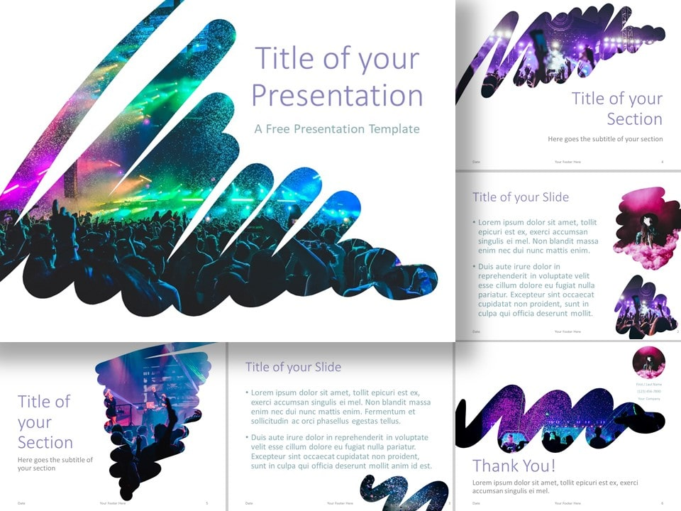 Free Powerpoint Google Slides Templates On Twitter Strokes Template For Powerpoint And Google Slides A Modern And Artistic Presentation Theme With Stroke Shape Placeholders To Showcase Your Photos For Powerpoint And