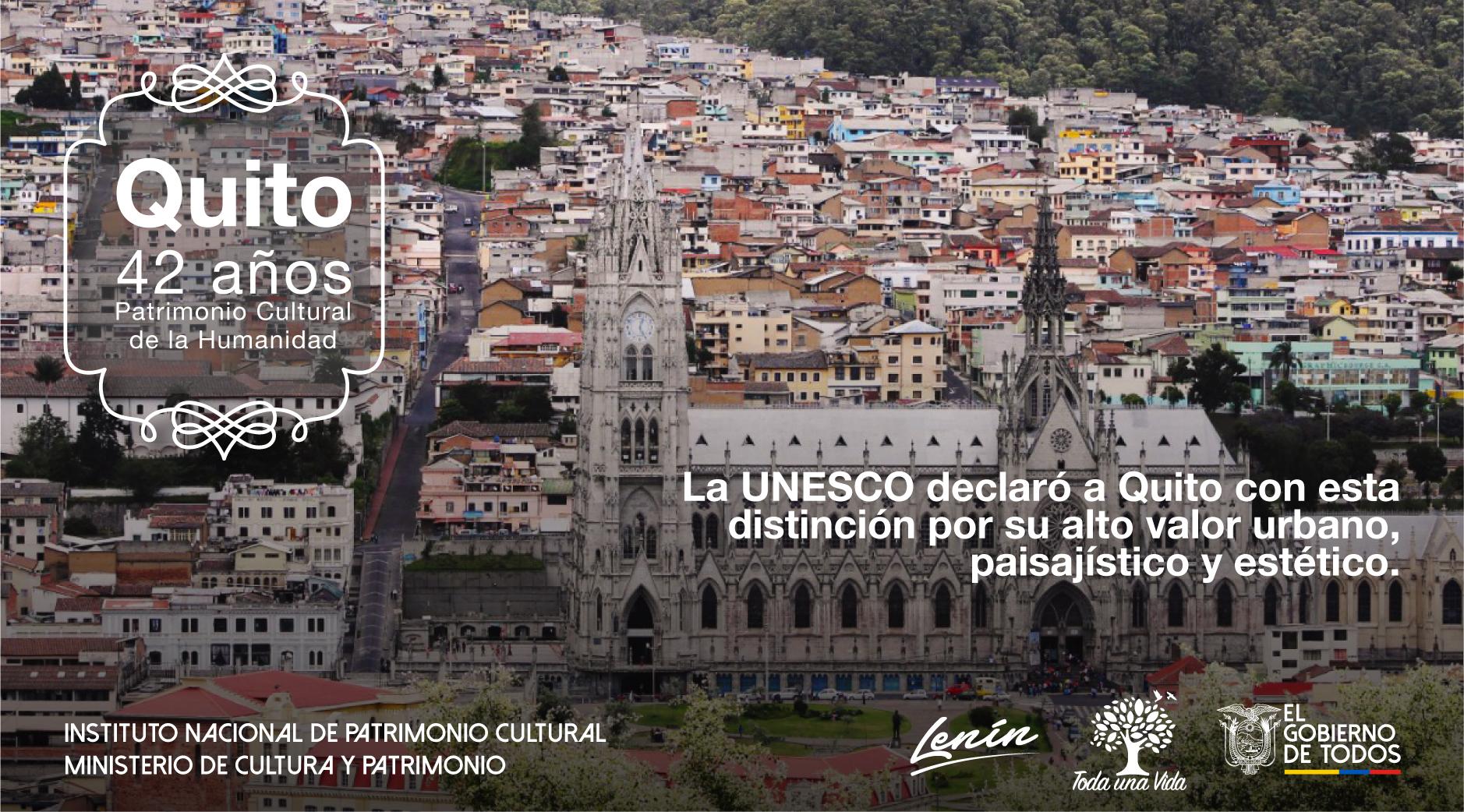 Cancilleria Ecuador على تويتر Quito Fue Declarada Como El Primer Patrimonio Cultural De La Humanidad Por La Unesco Es El 8 De Septiembre De 1978 Quitoespatrimonio Https T Co Snk1hxwrdx