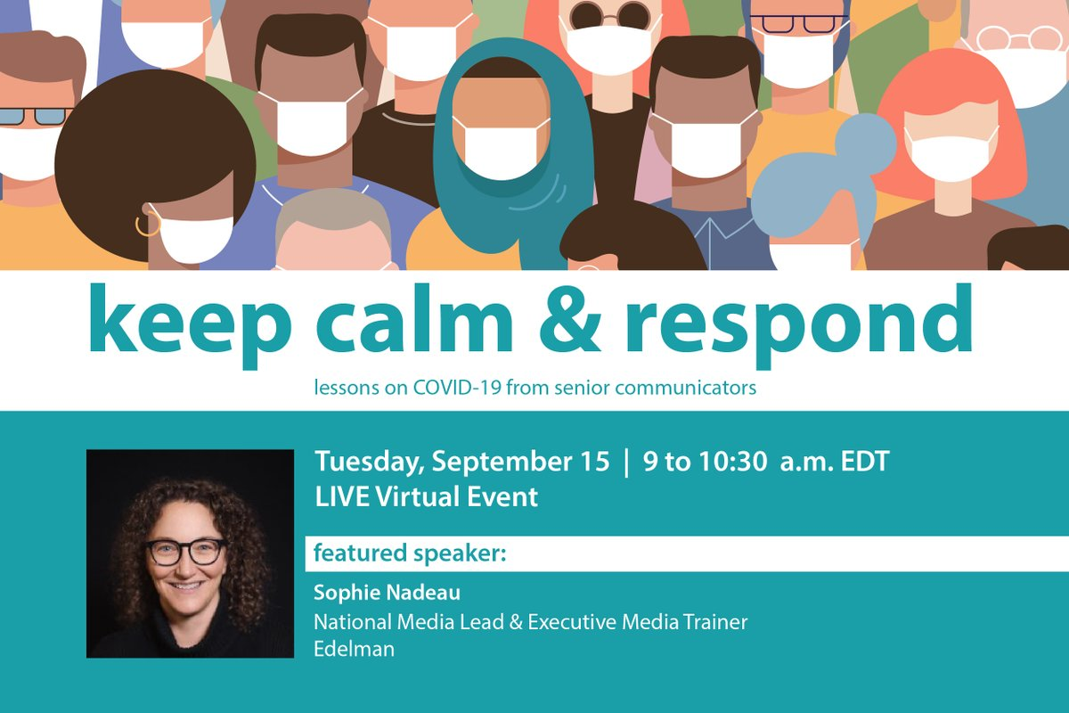 Sophie Nadeau is a media training expert and strategic media counsel at @EdelmanCanada She'll impart lessons learned during the COVID-19 pandemic at IABC/Toronto's upcoming webinar on Sept. 15. Register now! https://t.co/gmKYTOFnOv #iabctoronto #IABC #toronto #crisiscomms https://t.co/FuASGXe1xl