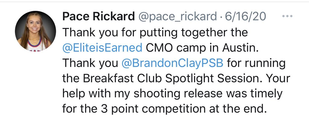 Brandon Clay College Recruiting Profile: #BClayRecruiting x @bclayrecruiting  Shereka Wright loved Pace Rickard (TX) as a Vandy assistant.  It's obvious she still loves her as UTA HC.  A dynamic '23 PG, Rickard has an offer.   GET YOUR RECRUITING PROFILE: https://t.co/tYNfZLbdO2 https://t.co/w8IgBQN0hY