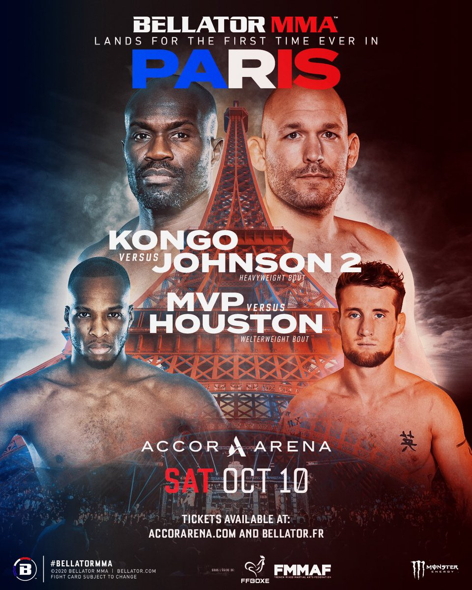 🎟 TICKETS ON SALE! 🎟  🇫🇷 #Bellator248 tickets are on sale NOW! Click the link below 👇 to snag 🎟s to our French debut and be a part of this historical event in MMA history on October 1️⃣0️⃣th.  🔗 https://t.co/AokhP7LnQh https://t.co/848EEkoI3M