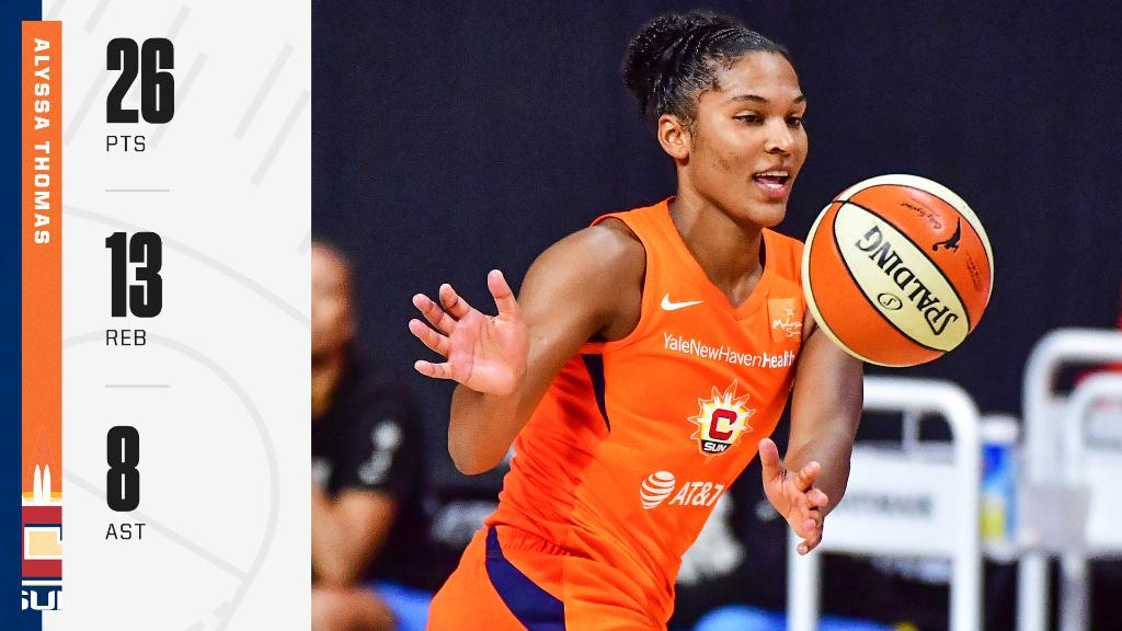The Sun are heading to Round 2 with a 94-81 win against the Sky ☀️  Alyssa Thomas did it all and made history with the most offensive boards in a playoff game 👏 https://t.co/tOn4eWws99