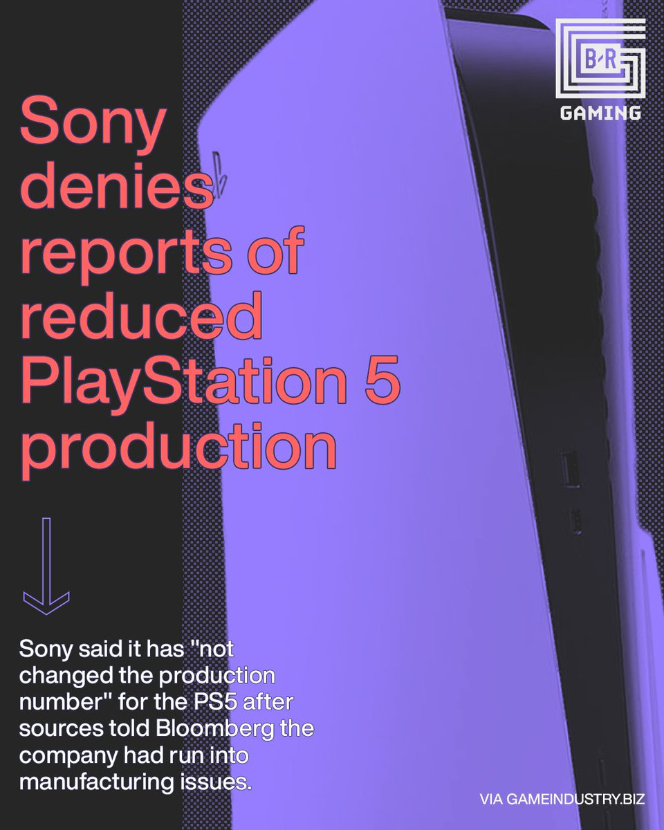 Sony denies any changes to PS5 production after reported manufacturing issues. https://t.co/RfTuc9K9gG