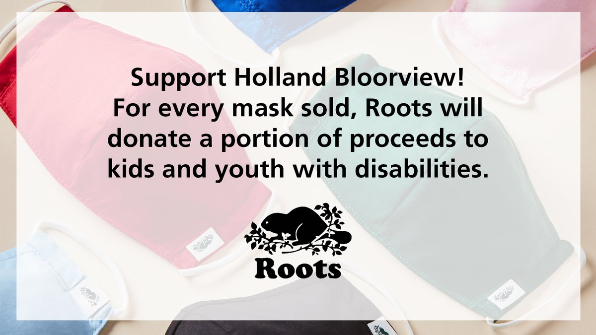 This month @ROOTS is donating a portion of every mask sold to help create a world of possibilities for kids with disabilities!  Get yours, here: https://t.co/K8rLbhojOX https://t.co/bvVMQWqeCD