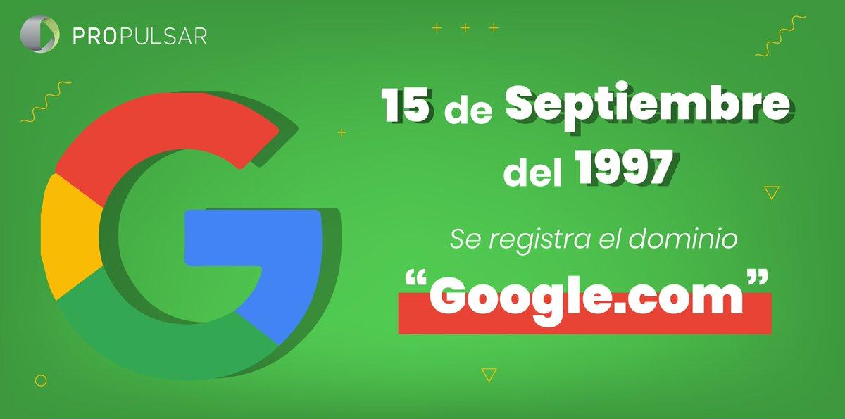 El dominio https://t.co/ROQTDiSU66 fue registrado el 15 de septiembre de 1997. Poco o nada sabíamos en ese entonces sobre el gran impacto que esta empresa tendría en una amplia variedad de aspectos de nuestra vida diaria. https://t.co/K61Yia8hrN