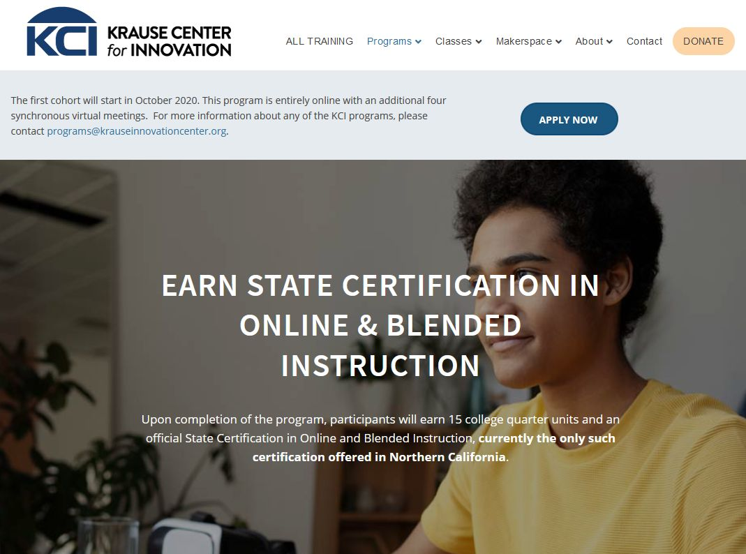 The KCI is offering a certificate for online and blended instruction - very cool! https://t.co/0aS1AlvBWS #distancelearning #remotelearning #onlineinstruction  @krausecenter @MsPRockz https://t.co/ybpmPFBc6S