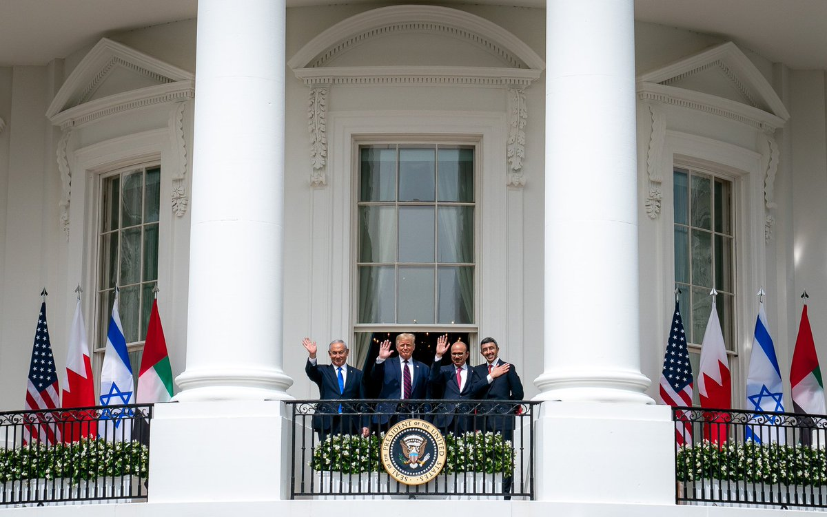 ...To our honored guests from Israel, the United Arab Emirates, and Bahrain, CONGRATULATIONS on this outstanding achievement... https://t.co/gZKpNsChyB
