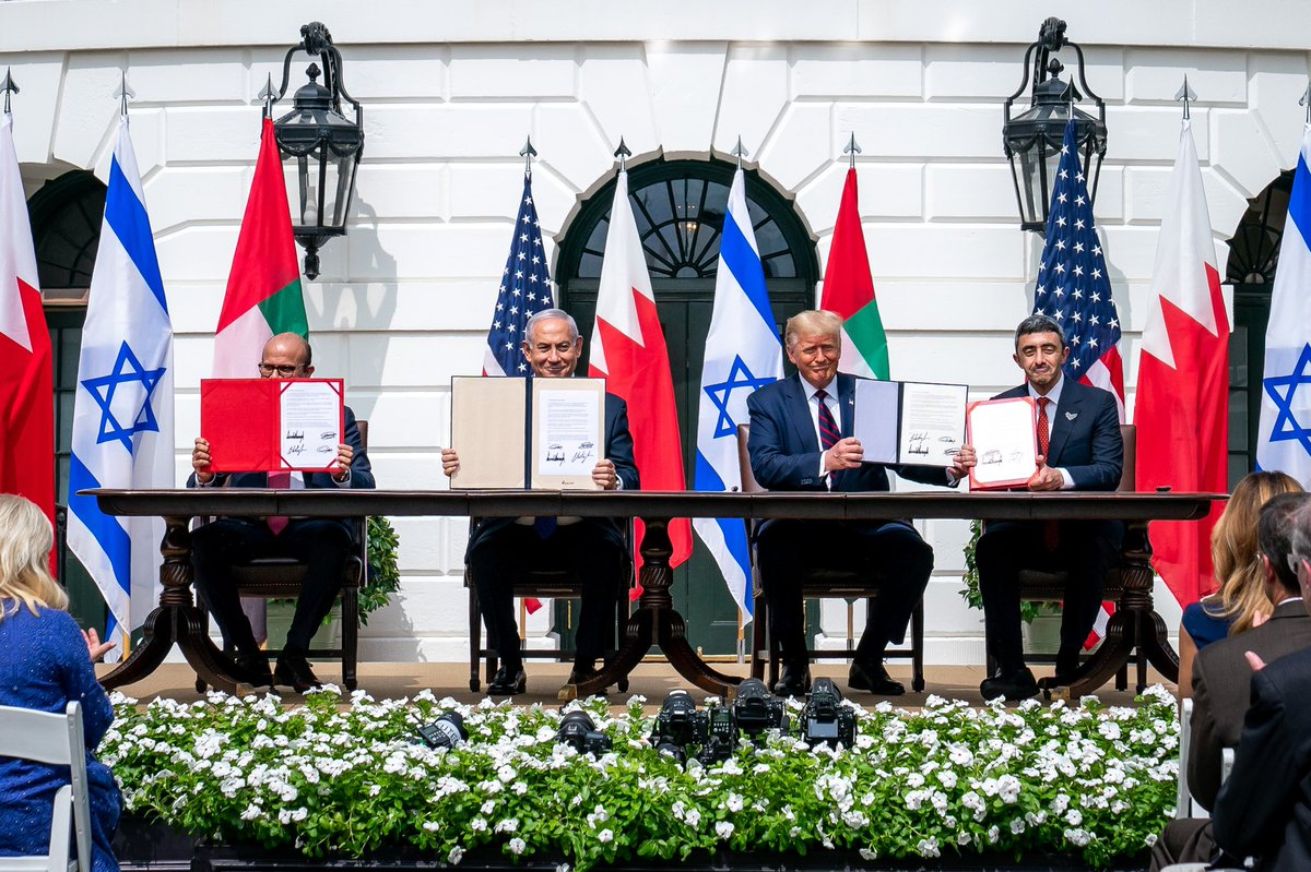 ...These agreements prove that the nations of the region are breaking free from the failed approaches of the past. Today's signing sets history on a new course.... https://t.co/sMmWGfAziD