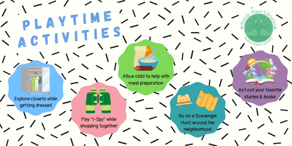 """""""Play is the absence of stress."""" ~ Poole  De-stress & try these playtime activities with your child!  #MLSEPL #EPL #EulessLibrary #FamilyPlaceLibraries #PlaytimeActivities #Playtime #Play https://t.co/6FLZXhV0GL"""