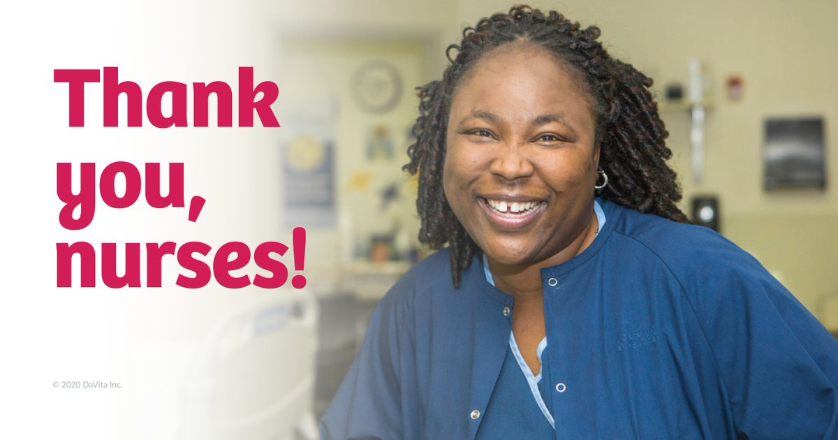 Nephrology nurses provide life-saving care and education to people with kidney disease. Every day, they make a positive impact on the lives of patients and families. Be sure to thank a #nurse this week! #NNW20 https://t.co/RrolS4xPLy