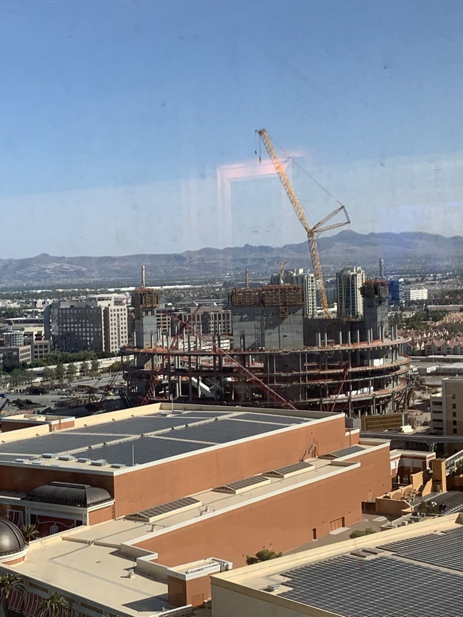 Views from my friend's window at The Wynn. I really hope to see the finished product of The Sphere someday!