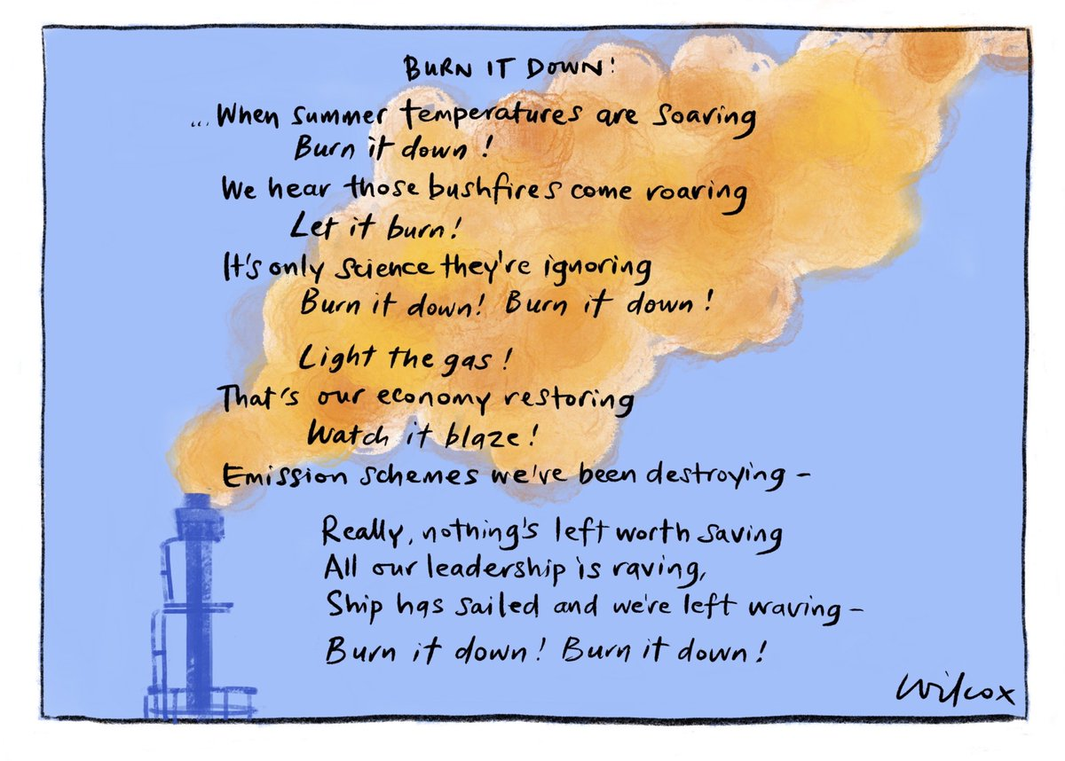 Burn it down. My @smh @theage cartoon.