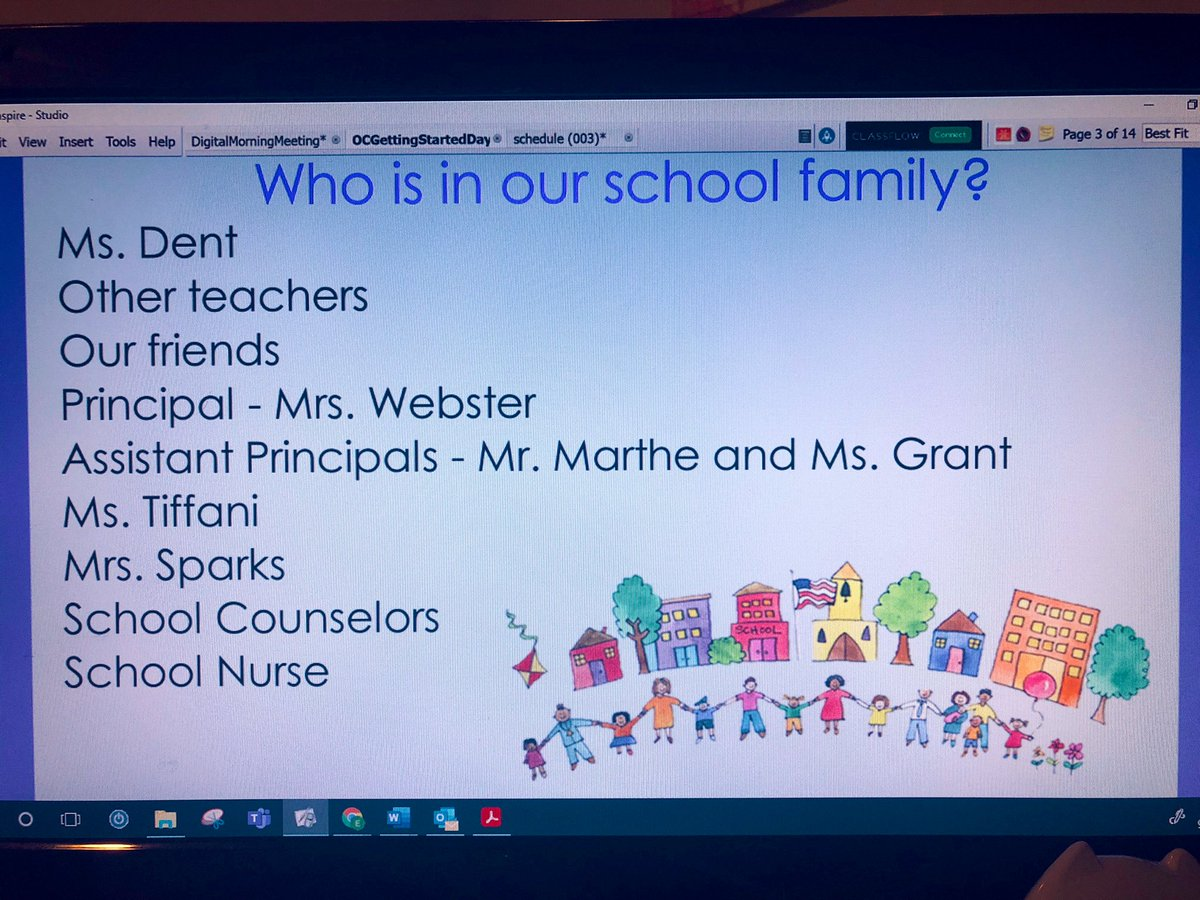 Today we discussed who is in our School Family! We ❤️ our @flesbcps family!