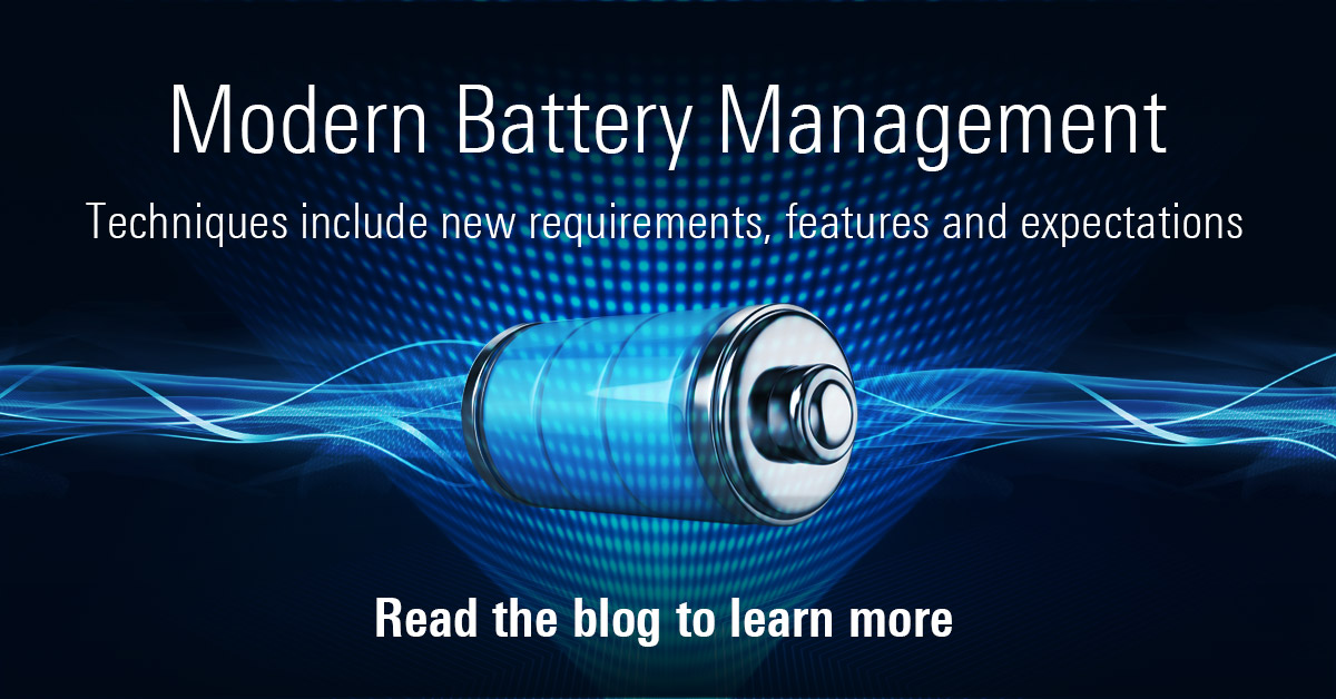 Next-gen Lithium-ion battery designs need to select a #BatteryManagement platform more capable than in the past. Read this blog by Tad Keely as he reviews new requirements, features and expectations for modern battery management - https://t.co/wLUeUzm5AM https://t.co/3l3GaWl8V1