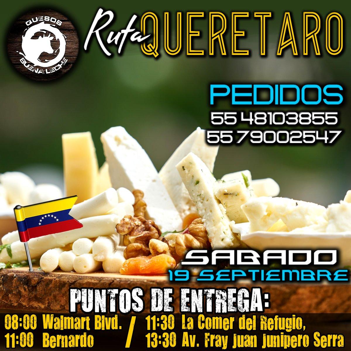 #venezolanosenmexico #Queretaro Ya tenemos todo preparado. Nos vemos éste Sábado. Recibiendo Pedidos. @quesobuenaleche El Verdadero y Auténtico Sabor del #queso #Venezolano en #Mexico #Venezolanos #QuedateEnTuCasa https://t.co/zxOojQZgdY