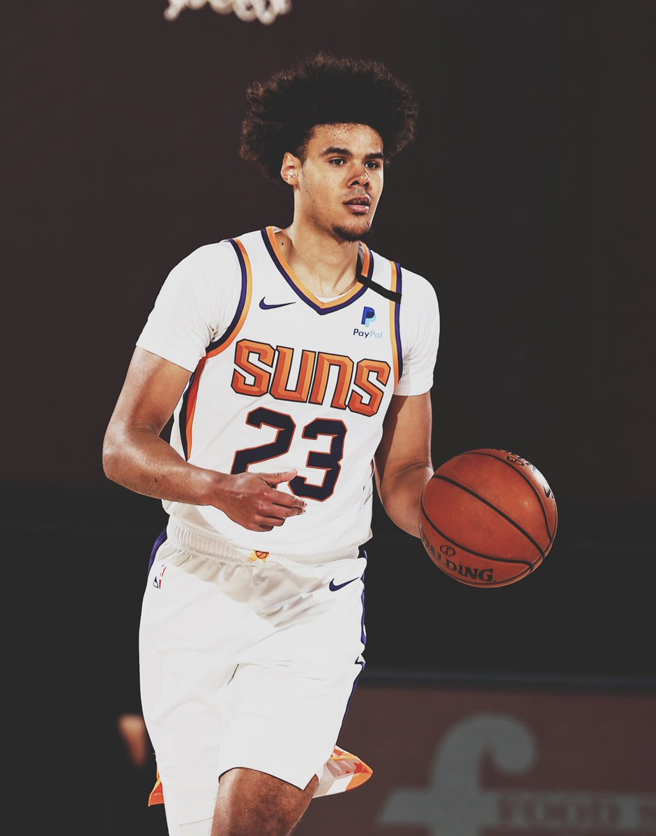 Among rookies this season who shot at least 4.8 3PA per game, Cam Johnson ranked number one at 39% from deep!  In @NBA history, only 7 other rookies have accomplished this. https://t.co/uW5zbhzD42