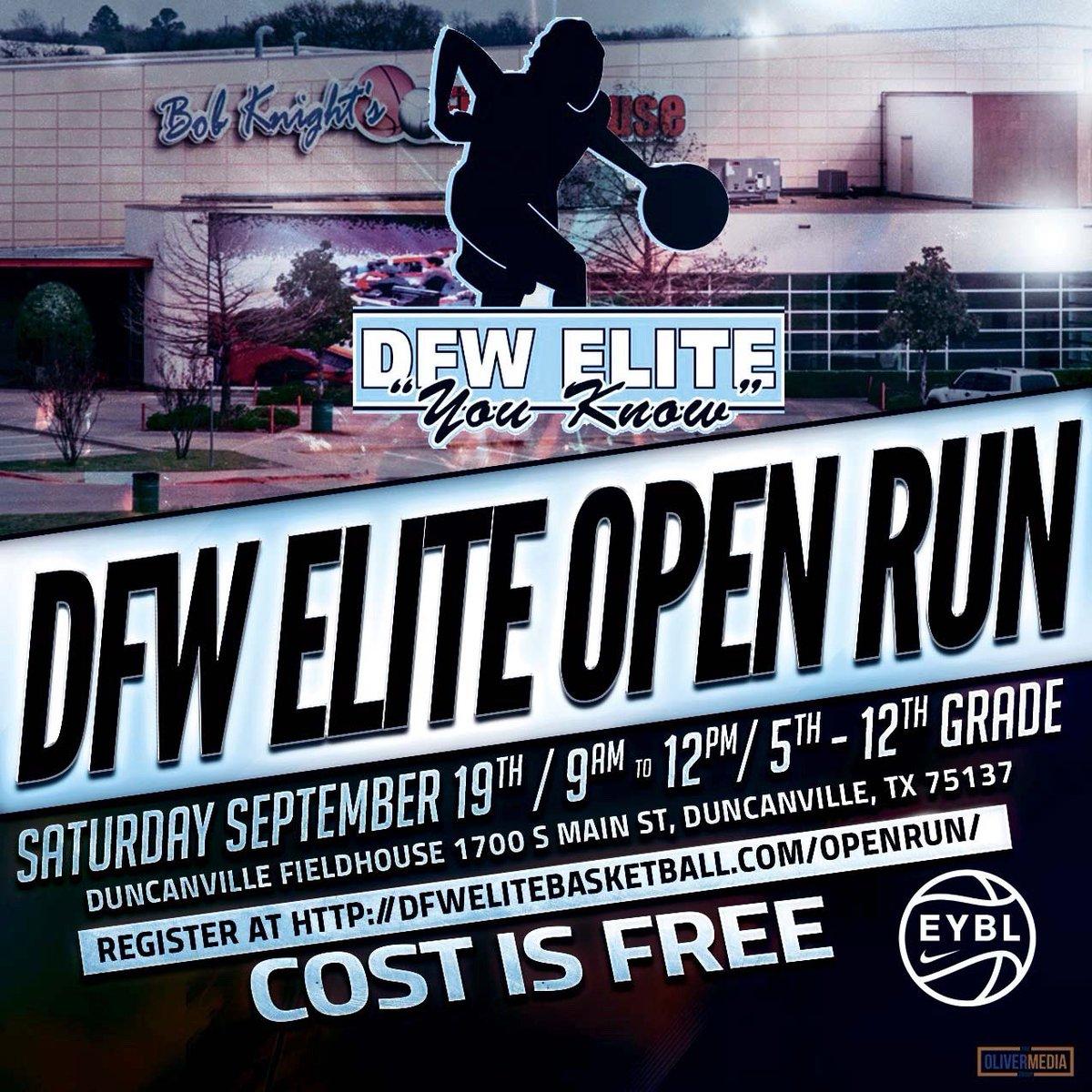Girls let's Hoop!   DFW Elite Open Run 5th-12th Grades  Sat 9a-12p Duncanville Fieldhouse  Cost is FREE!!!! https://t.co/dU0kPjN0Qd