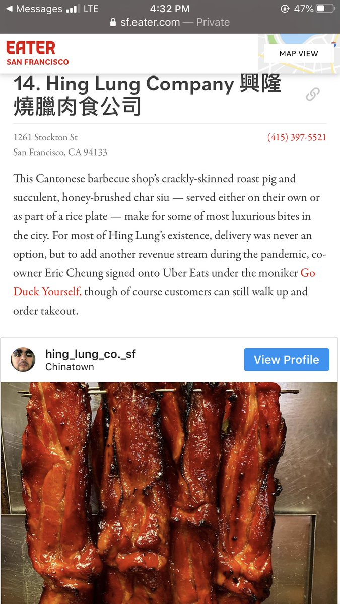 Just got on EATERSF thanks everyone for the support during these crazy times! 🙏 #sfeater #hkbbq #sf #sfchinatown #cantonesebbq #roastpig #roastduck #bbqpork https://t.co/Eid5d2gxVE