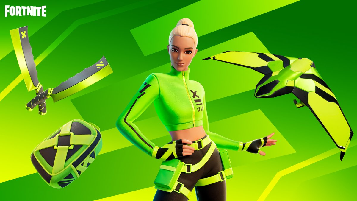 Never afraid to stand out, Kyra lands with an impact. Grab the Impact Set in the Item Shop now!
