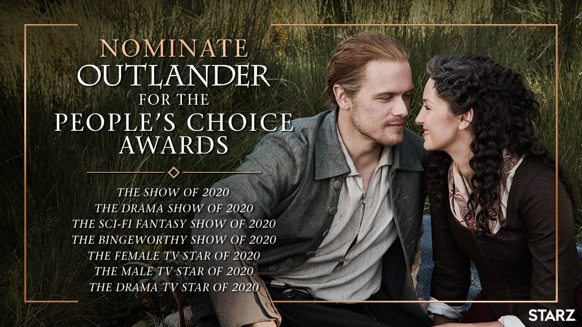 Let's show the #PCAs the power of our #Outlander clan: https://t.co/8HhaEbUiCp https://t.co/K2SZ4iMS1N