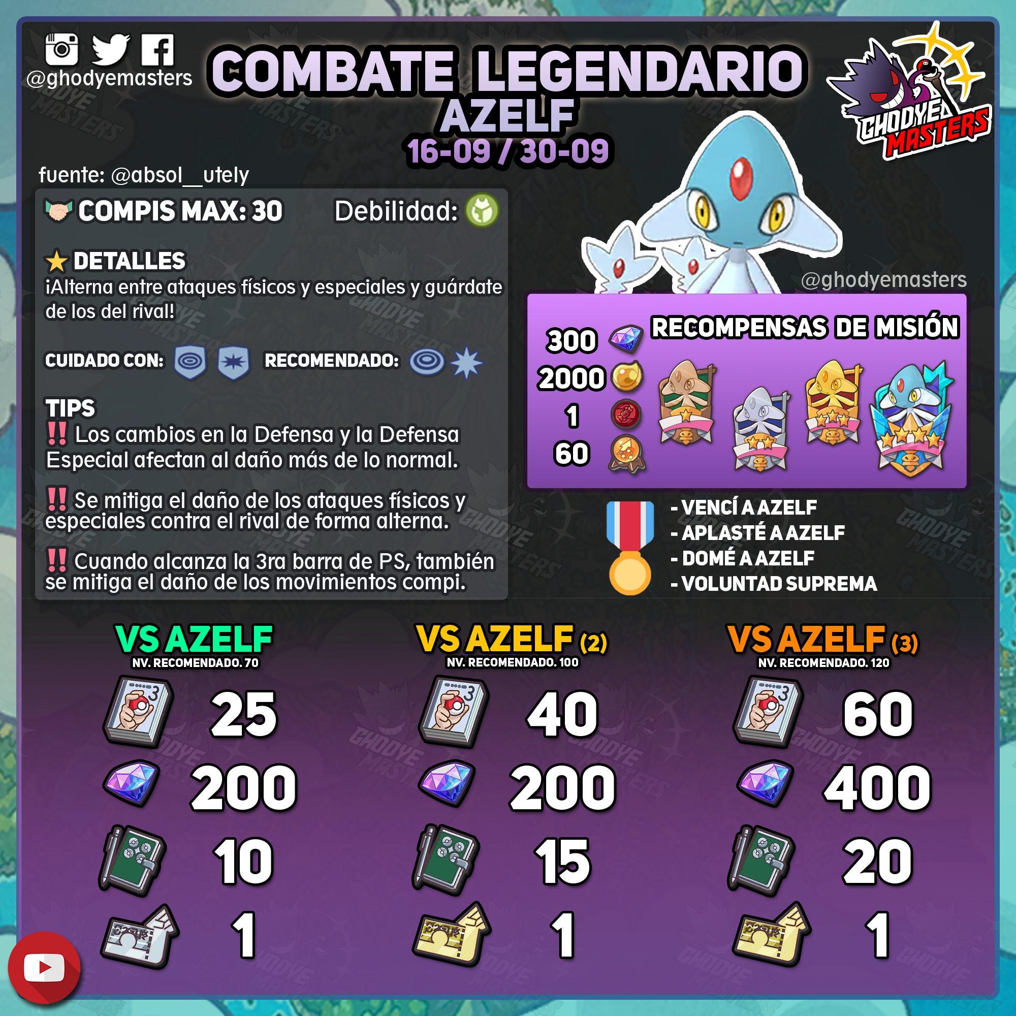 Pokémon Masters EX Azelf