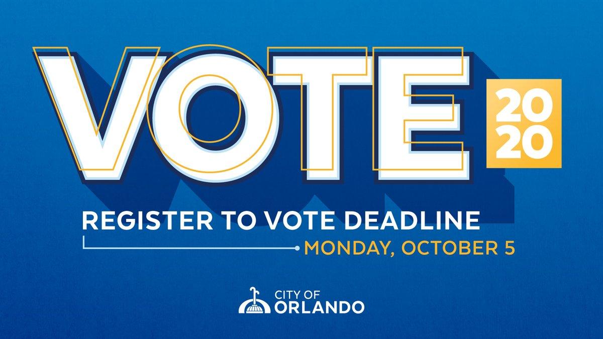 Make your voice heard. The deadline to register to vote is October 5. https://t.co/EgrxA00sDT