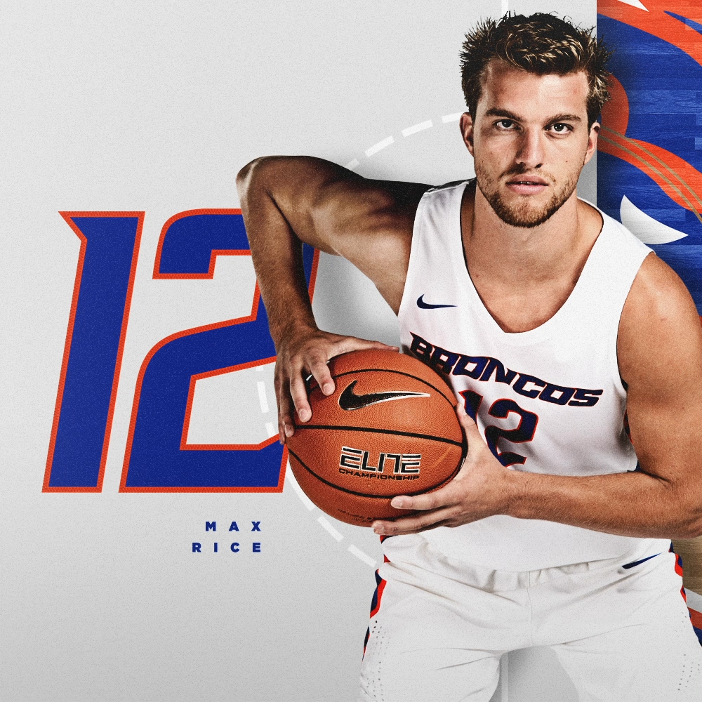 "Max Rice learned the game from a legend, and pays his respects every time he takes the floor. 📏 65"" / 194 lbs 🏀 RS-Sophomore / Guard 🌎 Boise, Idaho ⏪ 2.7 ppg, 36.6% 3FG in 19-20 #BleedBlue"