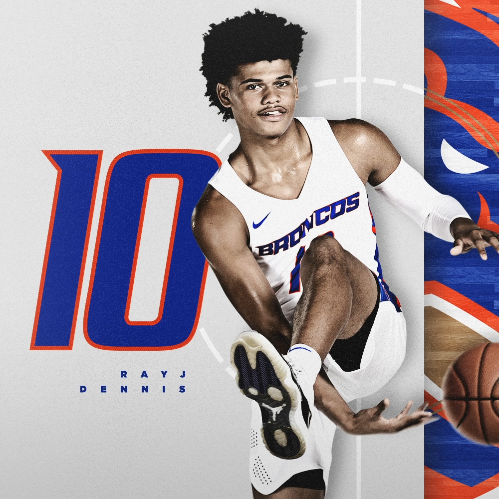 "RayJ Dennis spent the summer living up to his number 10: working toward a complete game and building on the perfect performance that highlighted his freshman season. 📏 62"" / 180 lbs 🏀 Sophomore / Guard 🌎 Oswego, Ill. ⏪ 4.1 ppg, 1.8 apg in 19-20 #BleedBlue"