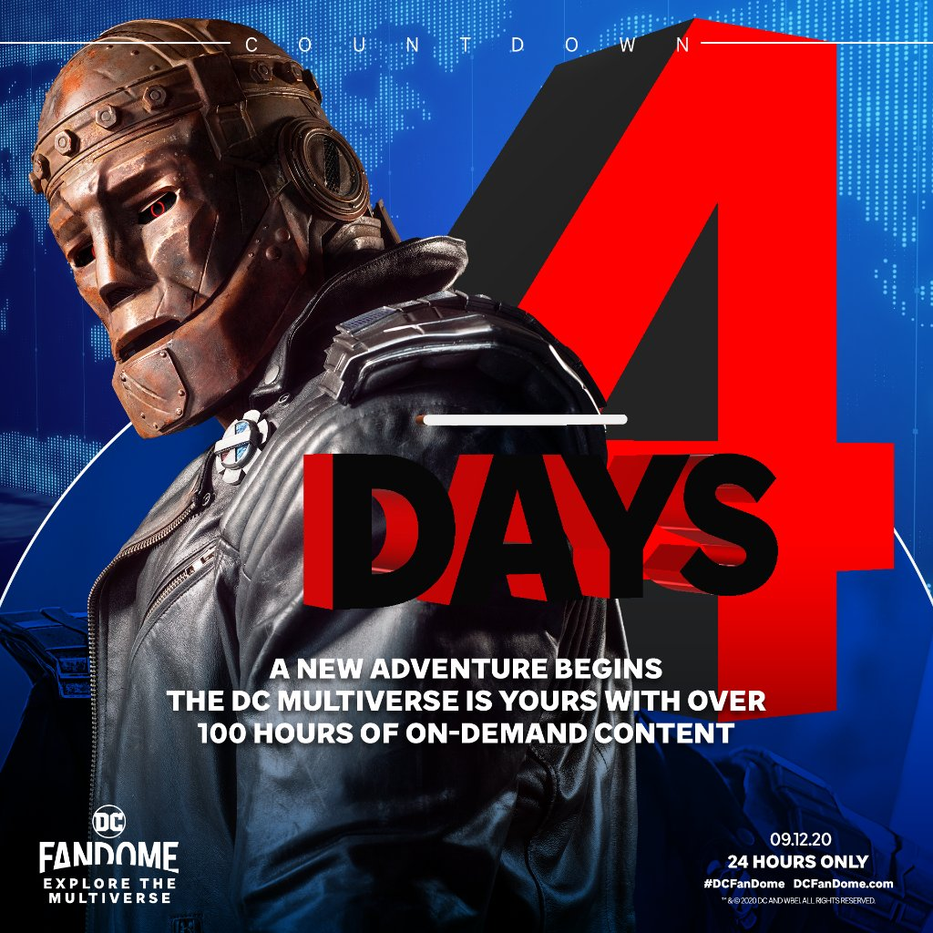 In four days, the DC Multiverse is yours. All fans welcome! #DCFanDome