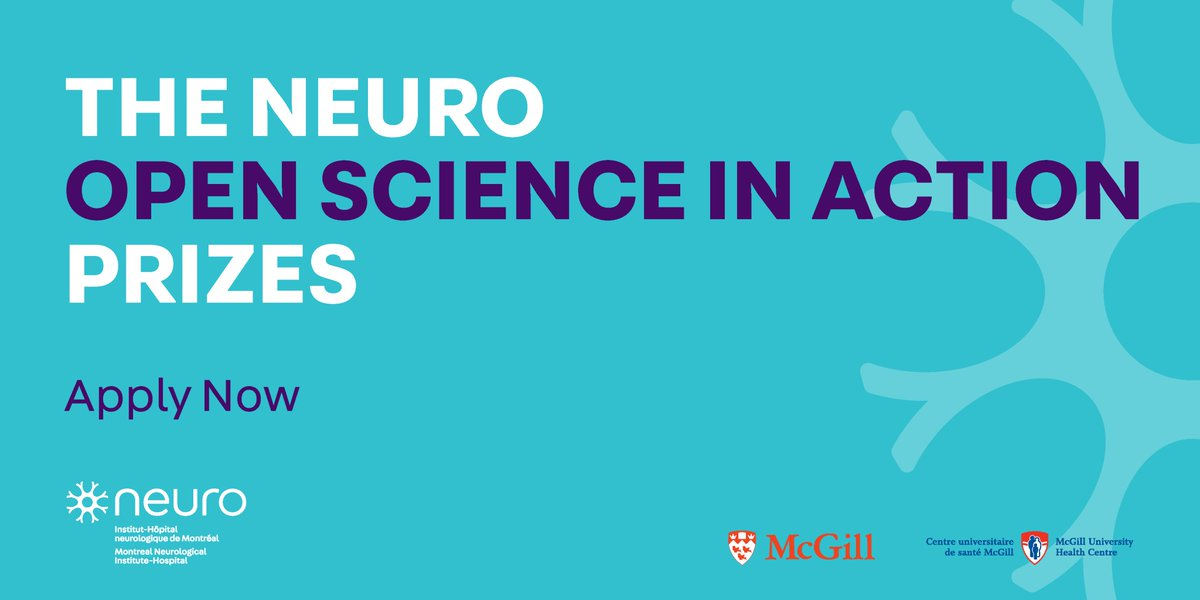Looking for recognition for your #openscience initiative? Applications are open now for The Neuro Open Science Action Prizes 2020! The Prizes recognize projects, services, tools, and platforms putting #OpenScienceinAction. Deadline: Oct. 7. Learn more: https://t.co/QIugkVjVdT https://t.co/UgnHLp2gy8