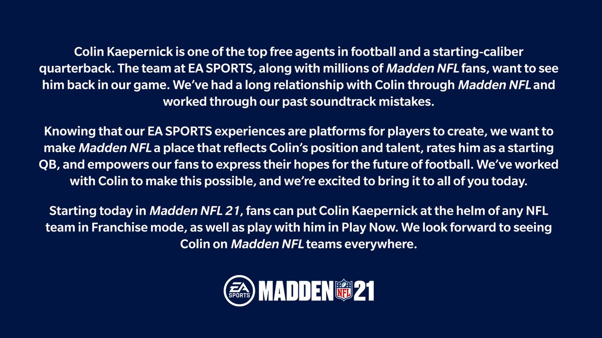 Replying to @EAMaddenNFL: