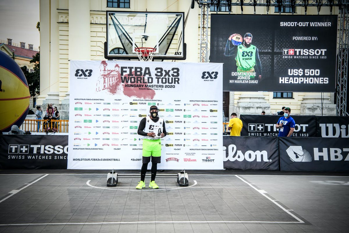 Salute to Domo Jones & our guys from NY Harlem on three successful showings on the #3x3WT! Domo took the Shootout title at the Hungary Masters. After three events, Joey King leads all scorers & Marcel Esonwune is 3x3s leading shot stopper. 👊 📸: @FIBA3x3