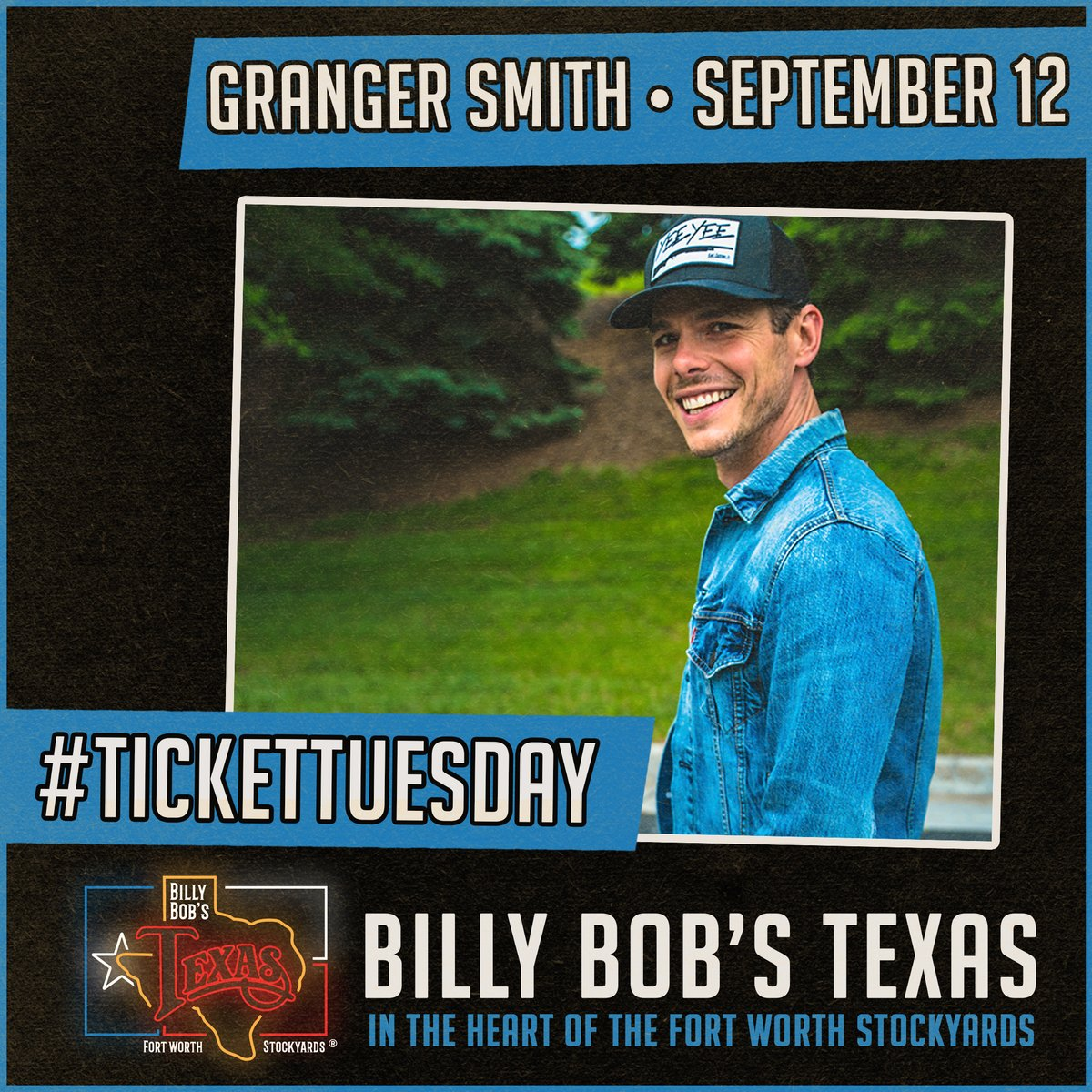 .@GrangerSmith returns to Billy Bob's Texas this Saturday, September 12. RT for your chance to win a pair of tickets to the show!   Get your tickets now at https://t.co/rmEvGkZhfD! https://t.co/bY8mqVGxd2