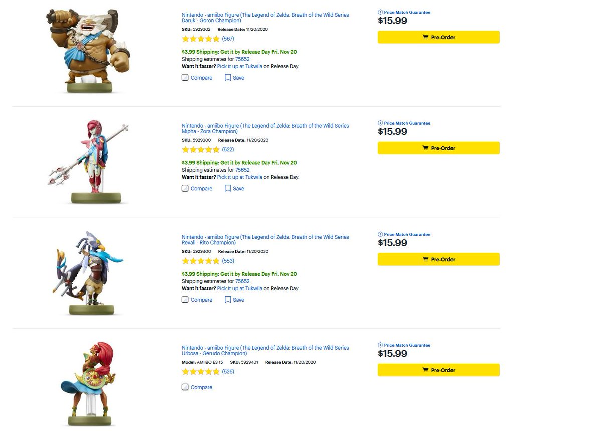 Cheap Ass Gamer On Twitter Pre Order Zelda Champions Amiibo 15 99 Each Via Best Buy Amiibo Work With Hyrule Warriors Age Of Calamity S Https T Co Mifpgdaayo Https T Co Y78dawq9ye