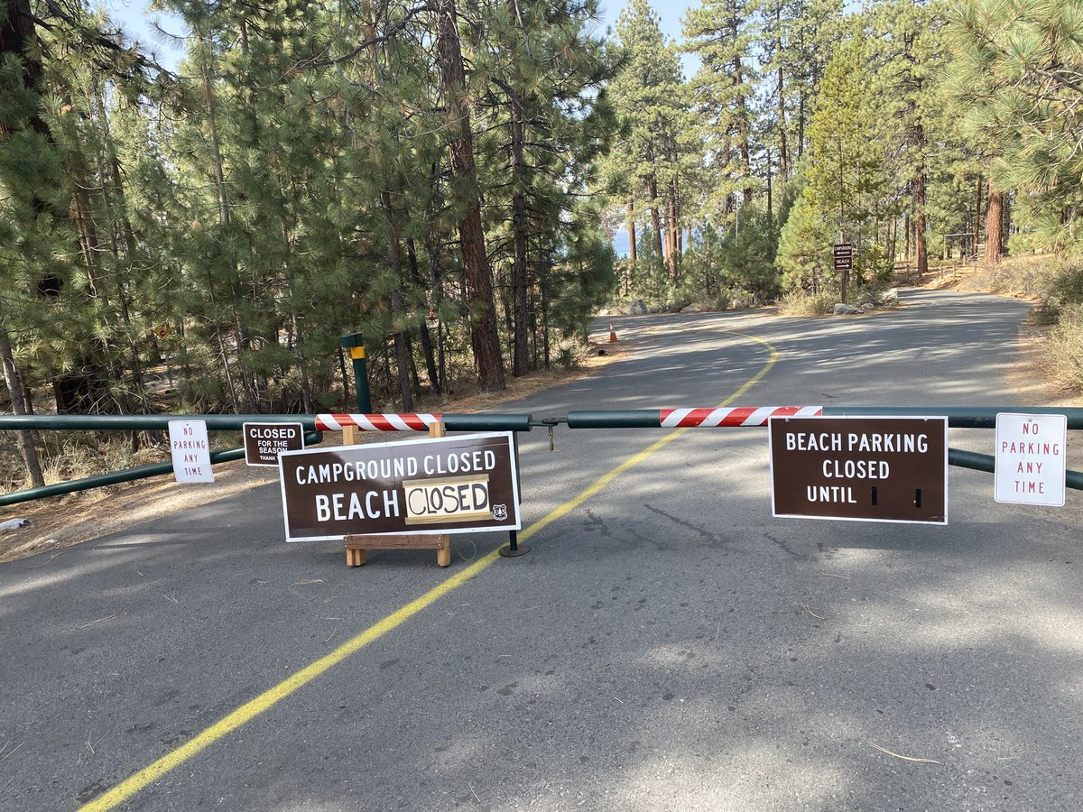 Fire Danger Extreme! Tahoe beaches Closed! Including Zephyr Cove, Round Hill Pines and Nevada Beach. https://t.co/WnUChm945Q