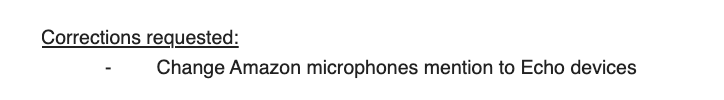 Amazon PR demanding we correct an article because we referred to an Echo as a 'microphone'