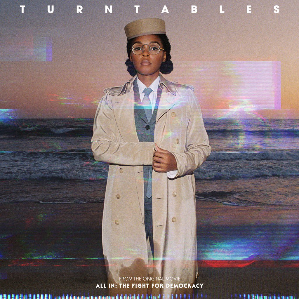 """A lil energy for the fatigue 🙏🏾✍🏾✌🏾 Listen & download  """"TurnTables"""" OUT EVERYWHERE  (from the Amazon Original Movie """"All In: The Fight for Democracy"""")"""