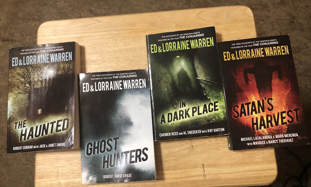If you enjoyed watching  #DevilsRoad on @travelchannel , I recommend the following books. I have had them for awhile but I originally bought on amazon. #thehaunted #ghosthunters #inadarkplace #satansharvest #edandlorrainewarren https://t.co/zXUIVMp2dT