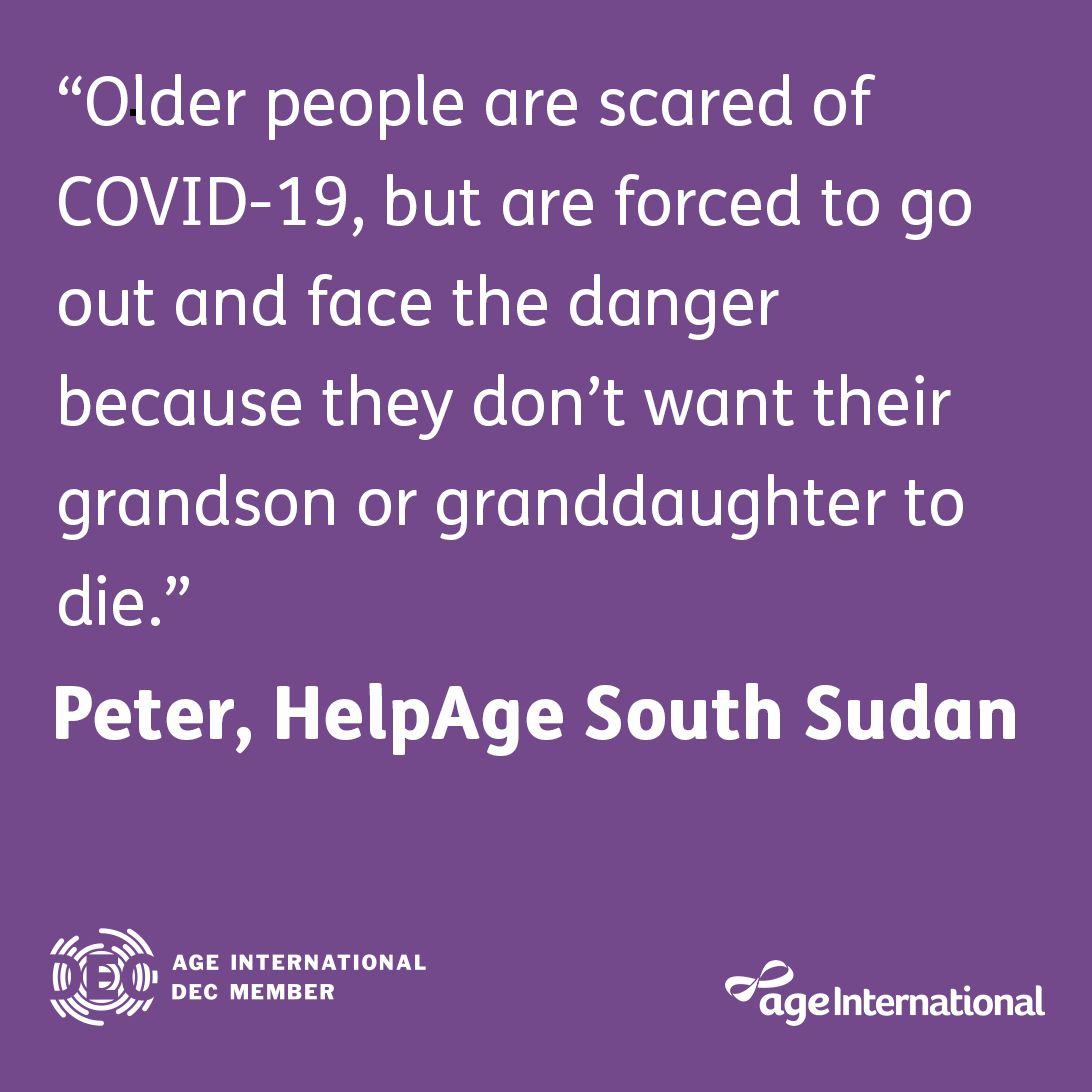 In South Sudan, older people who care for their families (often #OlderWomen) are putting themselves at risk of #Coronavirus to protect their loved ones and ensure they don't go hungry.  Donate to our appeal today:   #DECappeal #OlderPeople #Carers