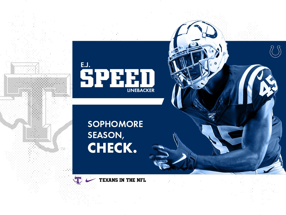 The NFL season kicks off this weekend which means our guy E.J. Speed gears up for his second year with the Colts 😈