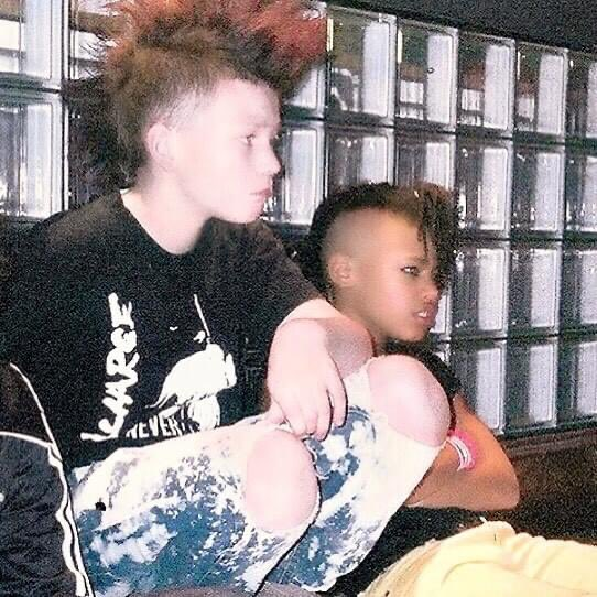 Bladee & Ecco2k circa 2004. The two were in a punk band called Krossad.