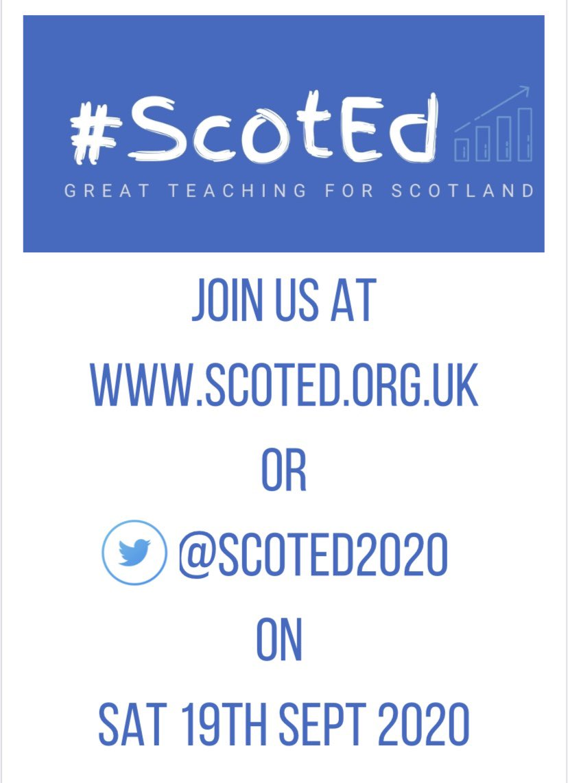 It's here... our schedule for @ScotEd2020 on Saturday 19th September! Look at all our amazing speakers and presentation topics! Please retweet and share amongst your professional learning networks! #greatteaching4scotland https://t.co/iQ7Hyr9nlU
