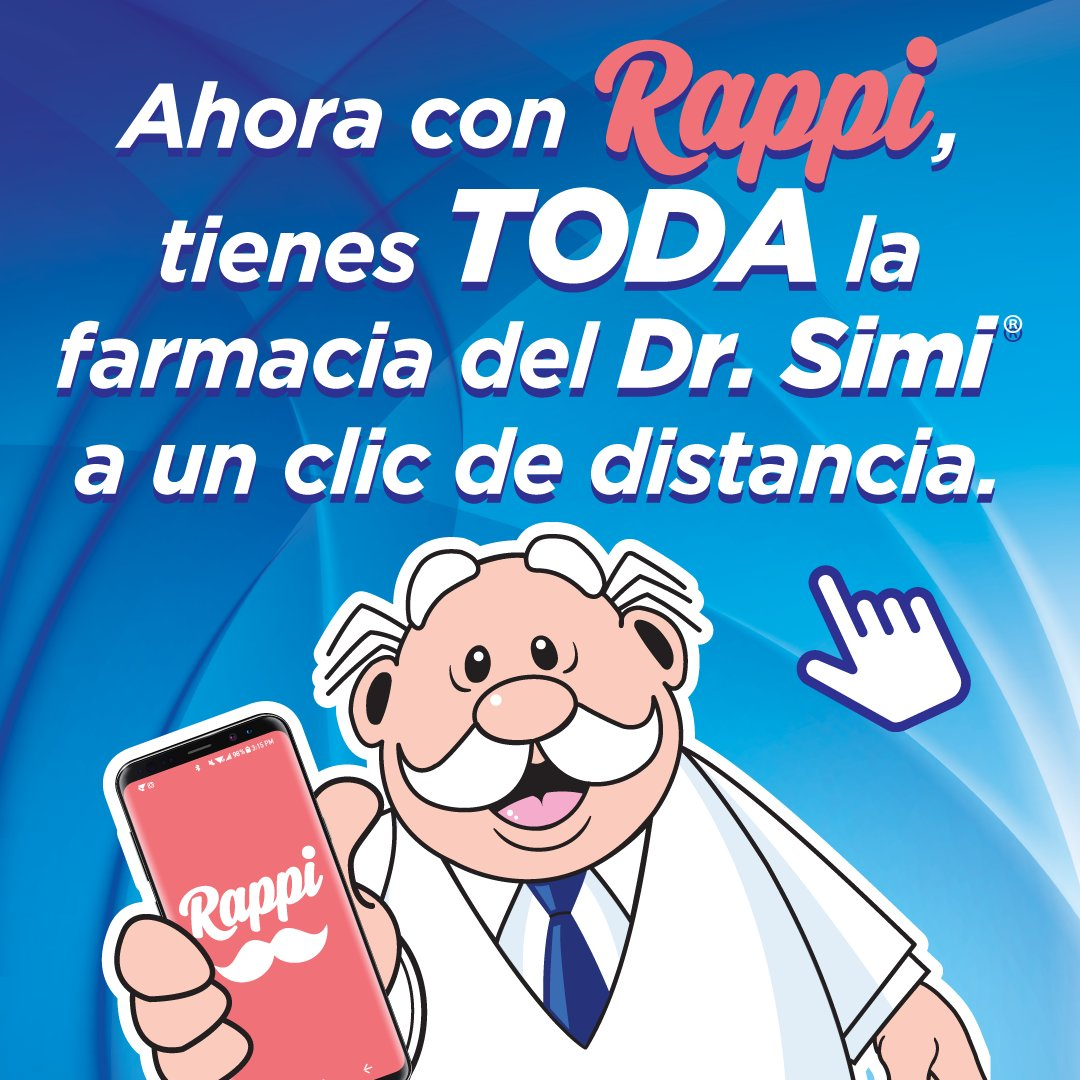 Si necesitas algo de nuestra farmacia, ahora puedes pedirlo a través de Rappi. Cobertura en #CdMx, #Mty y #Gdl. https://t.co/Ewh6eJmOdE