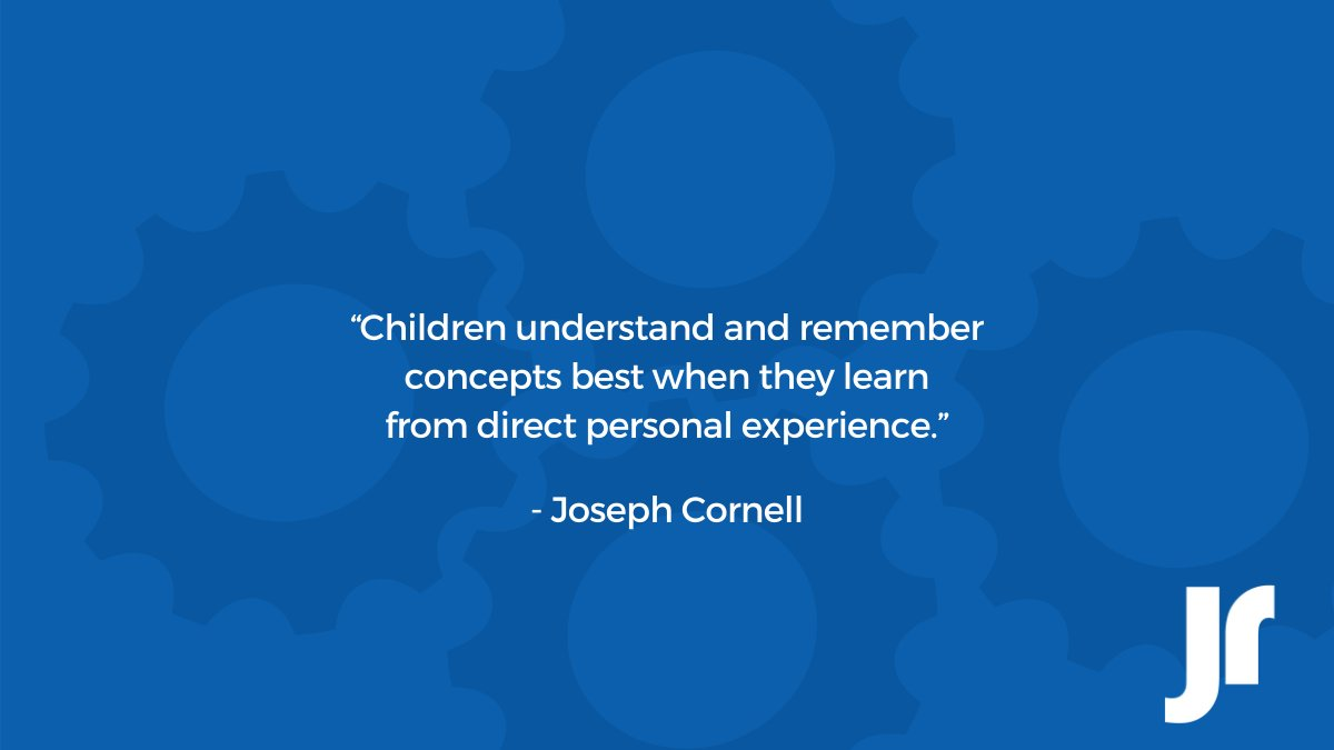 Children understand and remember concepts best when they learn from direct personal experience. #quoteoftheday #JrToyCompany https://t.co/RdoBhqP5K5