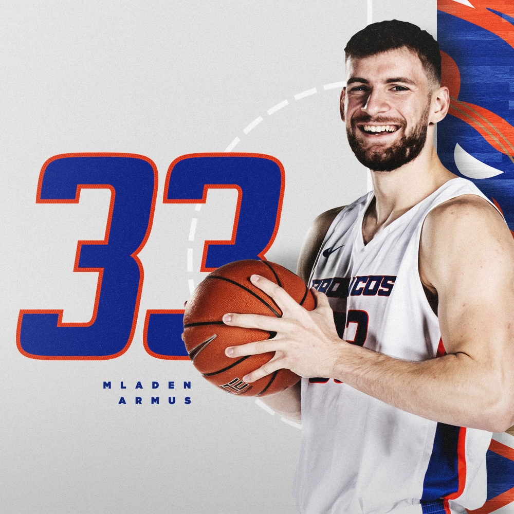 "The first of many Mladen Armus appreciation posts this year. We cant wait for Bronco Nation to get to know this guy, on the floor and off! 📏 610"" / 232 lbs 🏀 RS-Junior / Forward 🌎 Belgrade, Serbia 🏫 East Tennessee State #BleedBlue"
