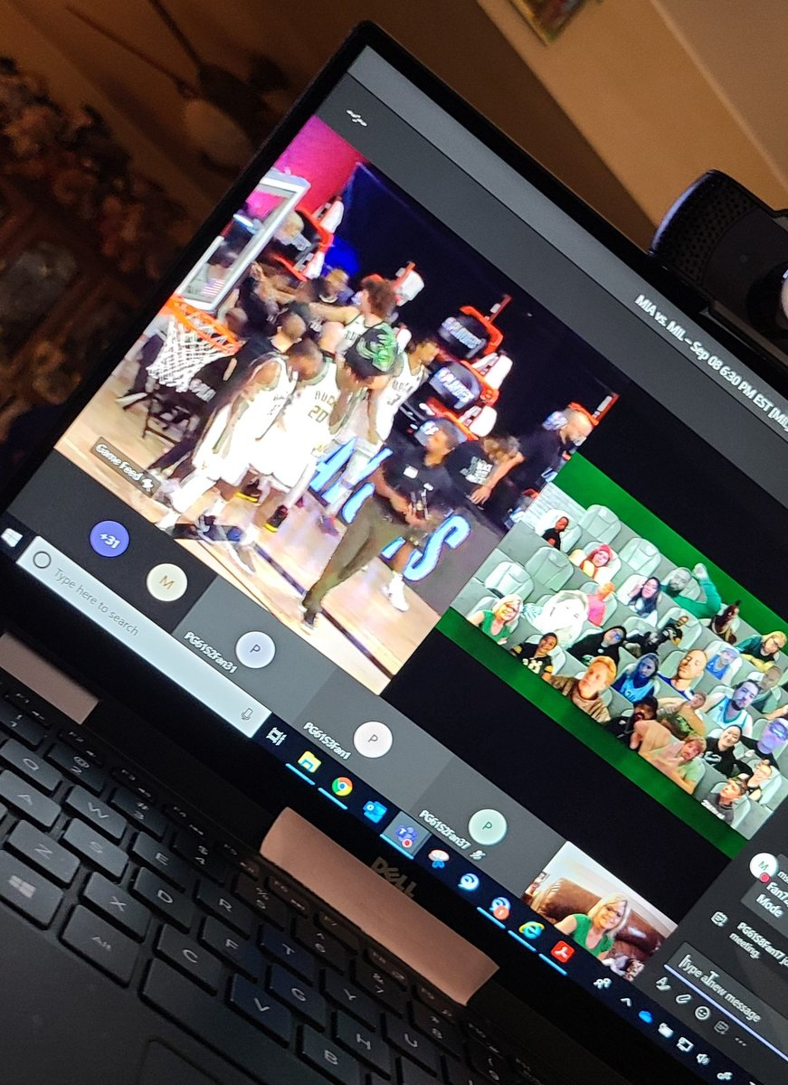 #NBA2K21 #NBATogether @Bucks #FearTheDeer #LetsGoBucks   Thank you #MilwaukeeBucks for having us as #VirtualFans  @PrincessKK1210  #OneGameAtATime #NBAPlayoffs https://t.co/9in3Yr4J0O