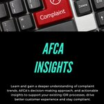 Image for the Tweet beginning: AFCA Insights is an Insights-as-a-Service